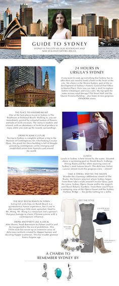 Exploring Sydney? Make sure to check out our guide in PANDORA Magazine. Click the picture to read the article.
