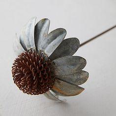 Tin Flowers, Faux Flowers, Flower Pots, Soda Can Flowers, Potted Flowers, Wooden Flowers, Black Flowers, Flowers Garden, Metal Yard Art