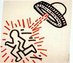 Keith Haring . 1981, pop art, illustration, graphic design.