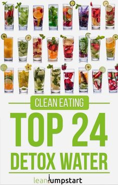 detox water: 24 clean, flavored recipes that boost your metabolism (flavored water recipes fat burning) Infused Water Recipes, Fruit Infused Water, Juice Recipes, Water Infusion Recipes, Diet Recipes, Water Detox Recipes, Infused Waters, Sugar Detox Recipes, Grilling Recipes