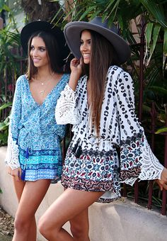 Love these playsuits Renee + Elisha Herbert for Peppermayo.com