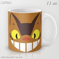 Catbus My Neighbor Totoro 11 / 15 oz Mug Dishwasher Microwave Safe Cup Tea Coffee Drink Anime Manga Hayao Miyazaki Studio Ghibli Chibi Brown by CanisPicta, $22.00