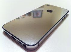 Хромированная наклейка на iPhone 5 | 5s (серебро) купить в интернет-магазине BeautyApple.ru.