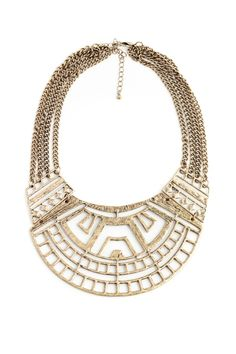 Tribal Cut Out Bib Necklaces//