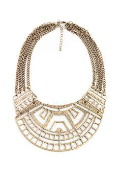 Tribal Cut Out Bib Necklaces