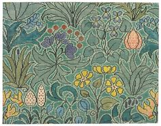 Arts and Crafts architect and designer Charles Francis Annesley Voysey Craftsman Rugs, Vintage Borders, Cross Stitch Freebies, Contemporary Embroidery, Bread And Roses, Chart Design, Arts And Crafts Movement, William Morris, Pattern Art