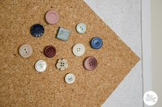 DIY Noticeboard Button Thumbtacks Tutorial