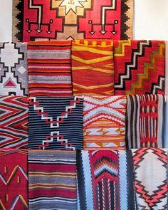 Santa Fe Interiors, Santa Fe Decor, Southwest Decor, Southwest Style, Navajo Women, Navajo Weaving, Country Wall Art, Country Bedding, Santa Fe Style