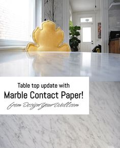 Update any flat surface with Marble Contact Paper from Knotty Pine Paneling, Rustic Mantle, Diy Dining Table, Arched Doors, Multipurpose Room, Studio Living, Contact Paper, Reno, Home Hacks
