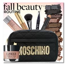 """""""Fall beauty routine"""" by simona-altobelli ❤ liked on Polyvore featuring beauty, Urban Decay, Kissing Elixirs, Gucci, Maybelline, Estée Lauder, Moschino and Clinique"""