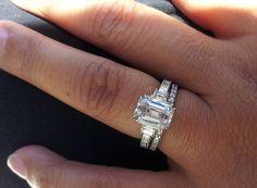 Tacori Emerald-Cut Diamond Engagement Ring