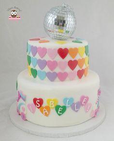 Roller Disco Cake, Roller Skate Cake, Rainbow Heart Cake