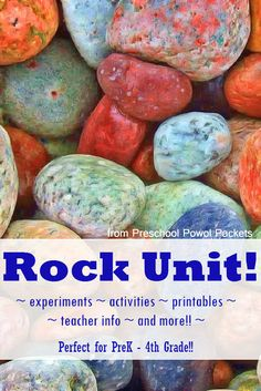 Are you studying rocks with the kids? This rock unit study for prek - 4th grade looks great!