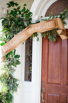 paper and greenery banner