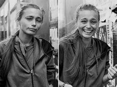 Una fotógrafa retrata a desconocidos antes y después de besarlos