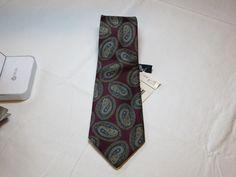 Stafford D5331841 Paisley Print menswear neck tie silk necktie Men's NWT #Stafford #tie