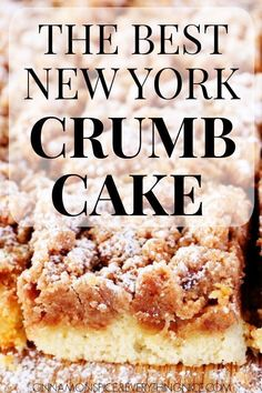 The Best NY Crumb Cake – everyone says this is the best they ever had! The Best NY Crumb Cake – everyone says this is the best they ever had! Baking Recipes, Cake Recipes, Dessert Recipes, Bisquick Recipes, Baking Desserts, Party Desserts, Brunch Recipes, Just Desserts, Delicious Desserts