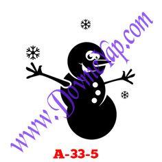 Kardan Adam Geçici Dövme Şablon Örneği Model No: A-33-5