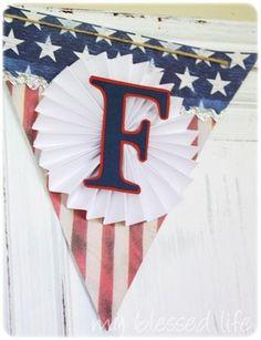 DIY 4th of July : DIY 4th Of July Freedom Banner