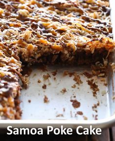 samoa poke cake recipe ~ Top incredible recipes
