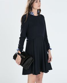 Image 3 of LONG-SLEEVED FLARED DRESS from Zara