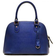 Floto Italian Ragazza Mini Blue Handbag (€235) ❤ liked on Polyvore featuring bags, handbags, shoulder bags, blue handbags, mini handbags, hand bags, man bag and shoulder strap bags