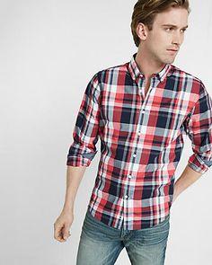 soft wash plaid shirt