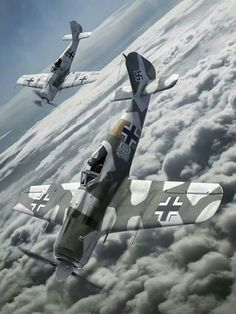 Focke-Wulf (FW-190): A pair of Focke Wulf's at high altitude.