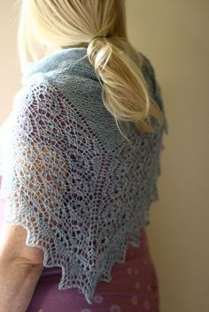 Gorgeous new shawl design from The Shetland Trader
