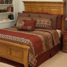 Sandpainting bedding collection with a color palette inspired by the