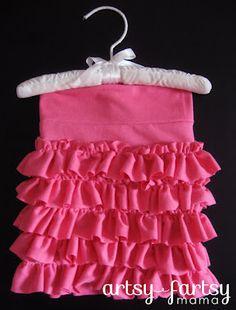 ruffly kid skirt from tshirt