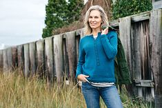Gull Island henley by Kate Gagnon Osborn   DK wt. at 20sts/4in
