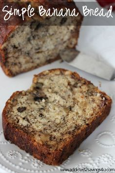 Simple Banana Bread Recipe! So easy to make and tastes delicious! #bananabread #Recipe #Bestrecipe