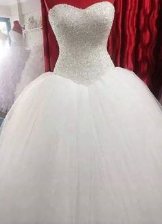 Romantic wedding dress,Ball Gown Wedding Dress,Tulle Wedding dress,Sweetheart Wedding dress