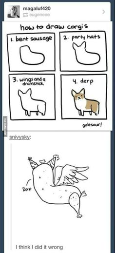 How to draw corgis