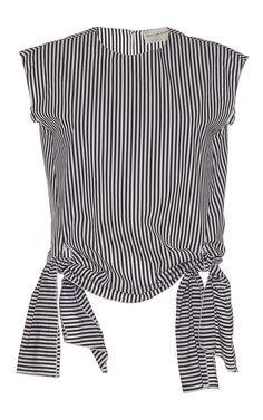 Stripe Poplin Blouse by MAISON RABIH KAYROUZ for Preorder on Moda Operandi