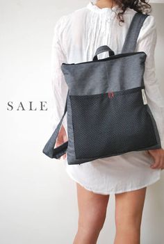ON SALE One of a kind Convertible Backpack Messenger bag