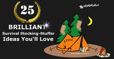 Here's a great list of 25 camping/survival-related items that are small, affordable, useful, and that people would actually like to get for the holidays: http://graywolfsurvival.com/78708/25-brilliant-survival-gift-ideas-youll-love/