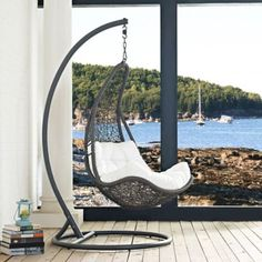 Elegant Design Of The Indoor Swing Chair With Silver Color