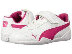 b4c1dbc8c6caf Puma Kids Tune Cat 3 V (Toddler) Girls Shoes Puma White Beetroot Purple