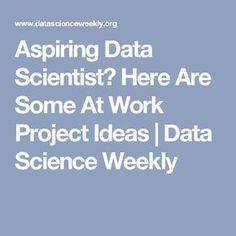 """Do you find yourself wanting to move into Data Science but keep hearing """"get some data, analyze it, and you'll be fine. Have you developed many of the base skills for data science, such as progra . Work Project, Project Ideas, Data Science, Computer Science, Machine Learning Projects, Science Articles, Learn Woodworking, Career Change, Data Analytics"""