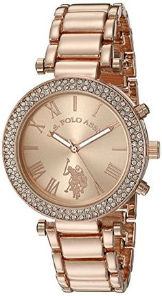US-Polo-Assn-Womens-Quartz-Rose-Gold-Toned-Dress-Watch-Model-USC40170