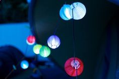 Solar Camping Lights: Decorate Your Campsite | A Little Campy. We did this last summer and it was so pretty (and easy to find the tent in the dark)!