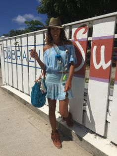 Skirt and croc top color azur by Sunday