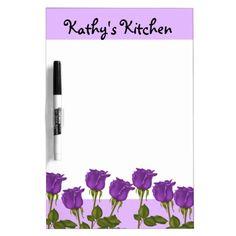 Purple Roses Dry-Erase Whiteboard http://www.zazzle.com/purple_roses_dry_erase_whiteboard-256215390704615176?rf=238631258595245556