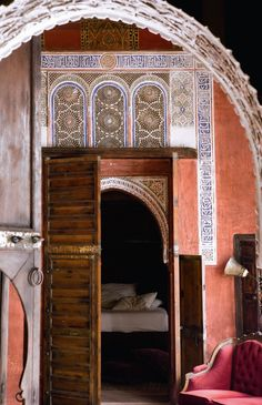 arched ornate sleeping cavern, marie claire