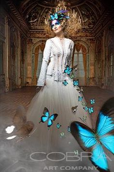 BUTTERFLY DELIGHT Fashion & Faces Photography Surrealistic Photography Photographic art on plexiglass Cobra Art Company