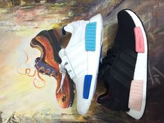 ADIDAS ORIGINALS HOMME/FEMME CHAUSSURES RUNNER NMD_ R1 WHITE BLUE GLOW S75235/S75234 Air Max Sneakers, Adidas Sneakers, Adidas Nmd R1, Adidas Originals, Nike Air Max, Glow, Fashion, Man Women, Moda