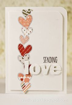 kids can make empty greeting cards or birthday cards for the parents to buy and envelopes Valentine Love Cards, Card Making Inspiration, Card Tags, Paper Cards, Cool Cards, Creative Cards, Anniversary Cards, Greeting Cards Handmade, Scrapbook Cards