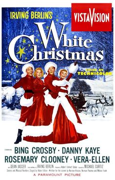 """White Christmas is a 1954 Technicolor musical film starring Bing Crosby and Danny Kaye that features the songs of Irving Berlin, including the titular """"White Christmas"""". The film was directed by Michael Curtiz and co-stars Rosemary Clooney and Vera-Ellen. Christmas Movie Trivia, White Christmas Movie, Best Christmas Movies, Holiday Movies, Christmas Eve, Holiday Song, Xmas Movies, Christmas Classics, Vintage Christmas"""